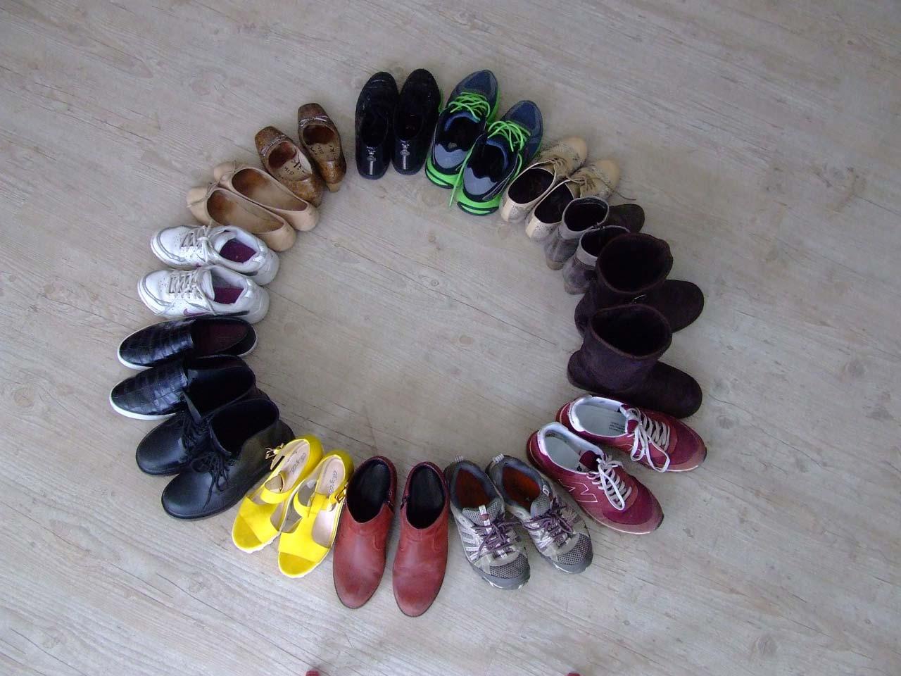 círculo zapatos