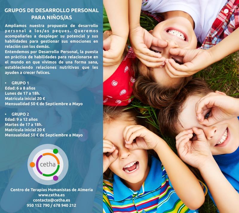Cartel grupo desarrollo personal para niños 2018-2019 web
